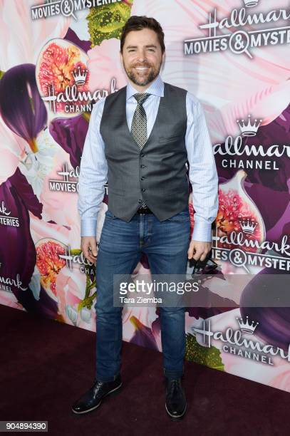 Actor Kavan Smith attends Hallmark Channel and Hallmark Movies and Mysteries Winter 2018 TCA Press Tour at Tournament House on January 13 2018 in...