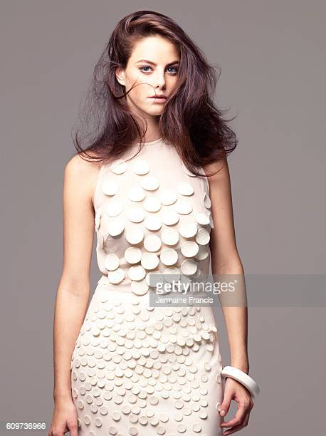 Actor Kaya Scodelario is photographed for the Times on November 8 2011 in London England