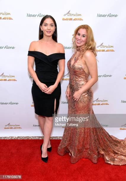"""Actor Kayla Adams and Actor Ariel Michael attend the premiere of the film """"Never Alone"""" at Arena Cinelounge on October 04, 2019 in Hollywood,..."""