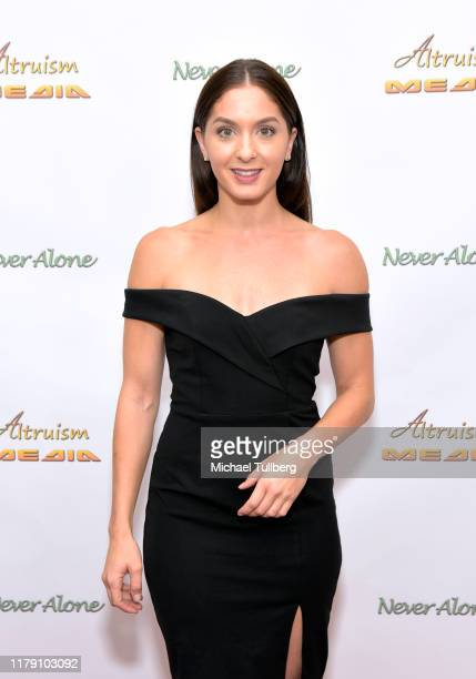"""Actor Kayla Adams attends the premiere of the film """"Never Alone"""" at Arena Cinelounge on October 04, 2019 in Hollywood, California."""