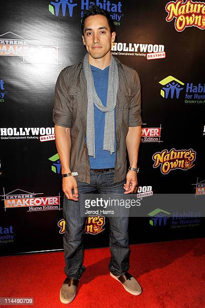 Actor Keahu Kahuanui arrives at ABC's Extreme Makeover Home Edition Benefiting Habitat For Humanity Los Angeles on May 21 2011 in Culver City...