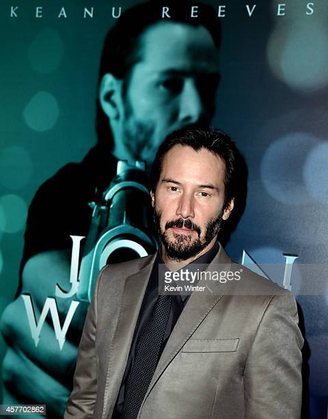 Actor Keanu Reeves arrives at a screening of Lionsgate Films' John Wick at the Arclight Theatre on October 22 2014 in Los Angeles California