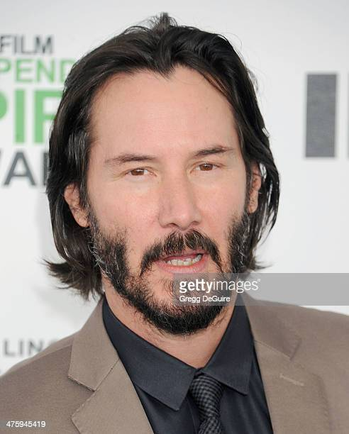 Actor Keanu Reeves arrives at the 2014 Film Independent Spirit Awards on March 1 2014 in Santa Monica California