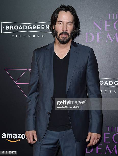 Actor Keanu Reeves arrives at the premiere of Amazon's 'The Neon Demon' at ArcLight Cinemas Cinerama Dome on June 14, 2016 in Hollywood, California.