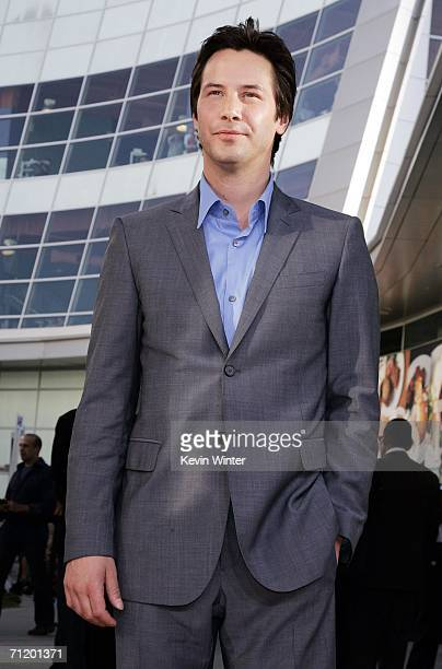 Actor Keanu Reeves arrives at the premiere of Warner Bros Pictures' The Lake House at the Cinerama Dome on June 13 2006 in Los Angeles California