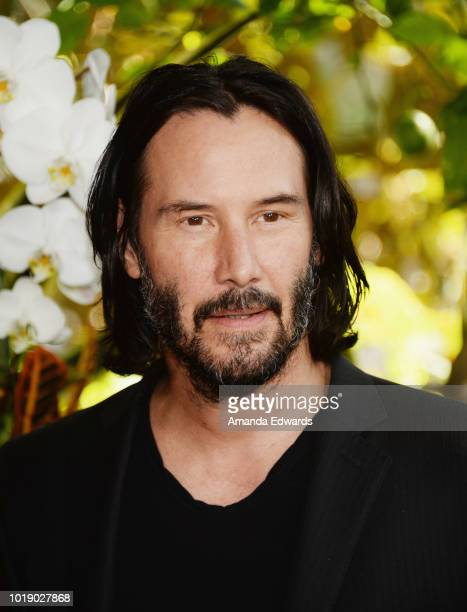 Actor Keanu Reeves attends a photo call for Regatta's 'Destination Wedding' at the Four Seasons Hotel Los Angeles at Beverly Hills on August 18 2018...