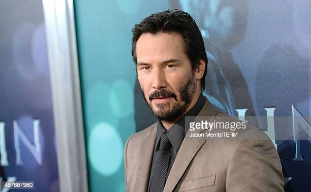 Actor Keanu Reeves attends Summit Entertainment's premiere of John Wick at the ArcLight Hollywood on October 22 2014 in Hollywood California