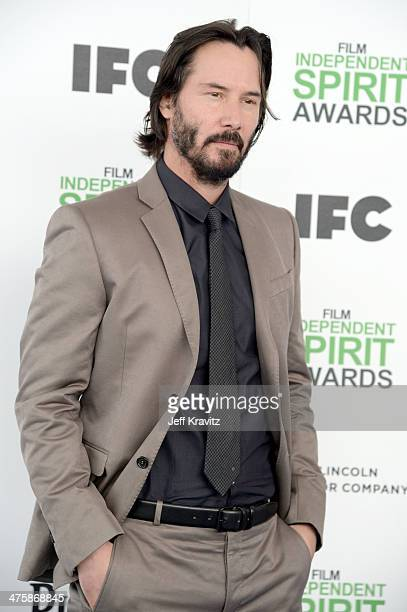 Actor Keanu Reeves attends the 2014 Film Independent Spirit Awards on March 1 2014 in Santa Monica California