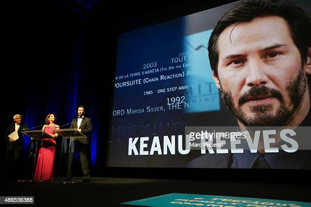Actor Keanu Reeves attends the 41st Deauville American Film Festival Opening ceremony on September 4, 2015 in Deauville, France.