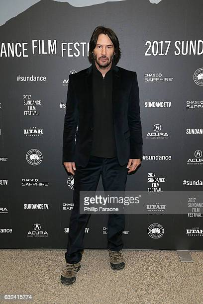 Actor Keanu Reeves attends the AMBI Media Group 'To The Bone' Premiere on day 4 of the 2017 Sundance Film Festival at Eccles Center Theatre on...