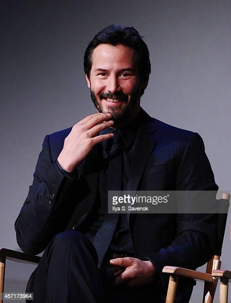 Actor Keanu Reeves attends the Apple Store Soho Presents Meet The Actors Keanu Reeves Alfie Allen Chad Stahelski David Leitch And Basil IwanykJohn...