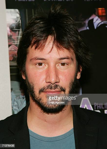 Actor Keanu Reeves attends The Film Society of Lincoln Center's screening of A Scanner Darkly at The Walter Reade Theater July 5 2006 in New York City