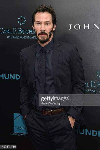 Actor Keanu Reeves attends the John Wick New York Premiere at Regal Union Square Theatre Stadium 14 on October 13 2014 in New York City