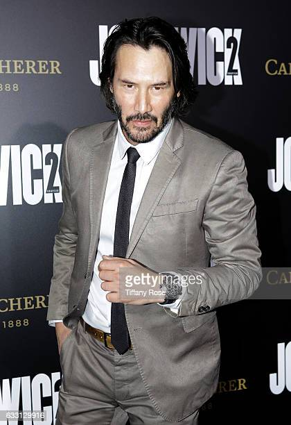 Actor Keanu Reeves attends the premiere of 'John Wick Chapter 2' sponsored by Carl F Bucherer at ArcLight Hollywood on January 30 2017 in Hollywood...