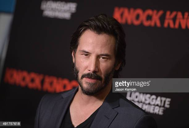 Actor Keanu Reeves attends the premiere of Knock Knock at TCL Chinese Theatre on October 7 2015 in Hollywood California