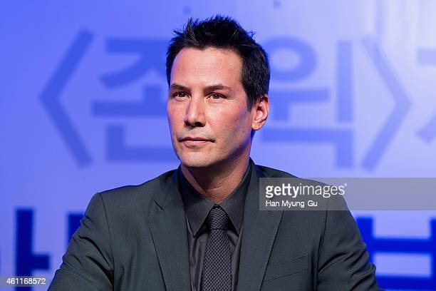 Actor Keanu Reeves attends the press conference for 'John Wick' at JW Marriott Hotel on January 8 2015 in Seoul South Korea The film will open on...