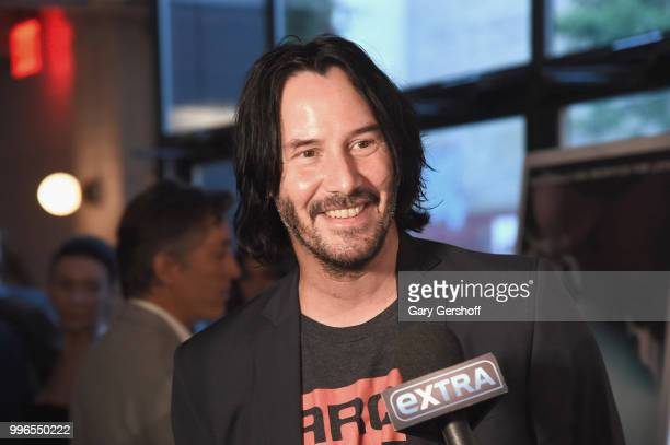 Actor Keanu Reeves attends the 'Siberia' New York premiere at The Metrograph on July 11 2018 in New York City