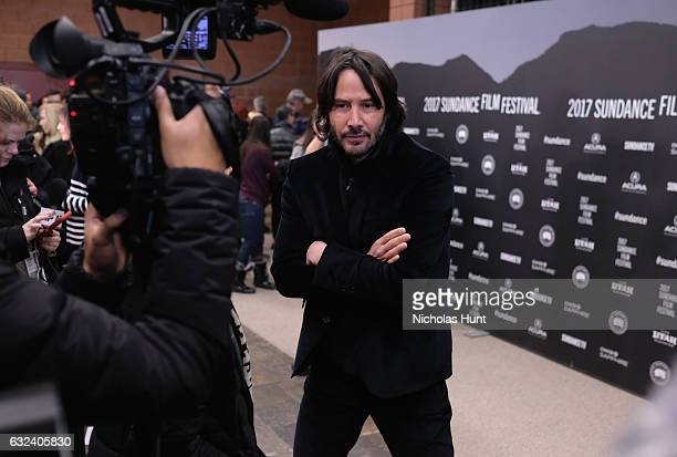 Actor Keanu Reeves is interviewed at the To The Bone Premiere on day 4 of the 2017 Sundance Film Festival at Eccles Center Theatre on January 22 2017...