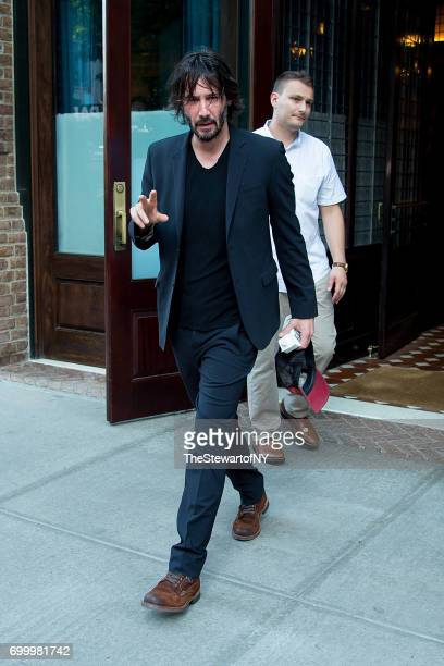 Actor Keanu Reeves is seen in Tribeca on June 22 2017 in New York City