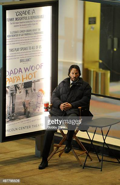 Actor Keanu Reeves on the set of 'John Wick 2' on November 18 2015 in New York City