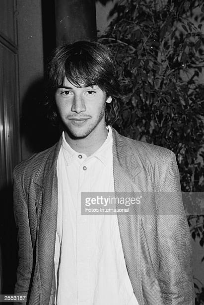 Actor Keanu Reeves poses while attending the Screen Director's Guild screening of the made-for-TV film, 'Under the Influence,' 1986.