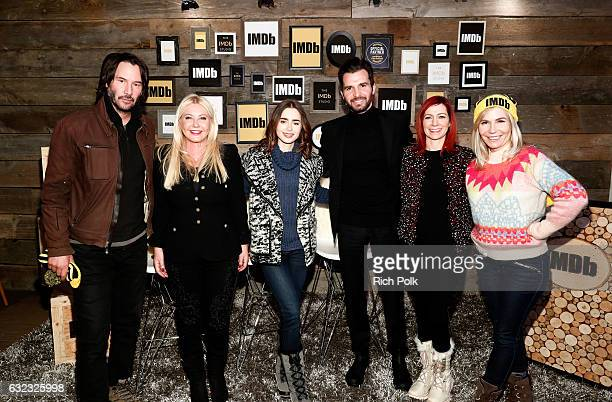Actor Keanu Reeves producer Monika Bacardi actress Lily Collins producer Andrea Iervolino actress Carrie Preston and writer/director Marti Noxon of...