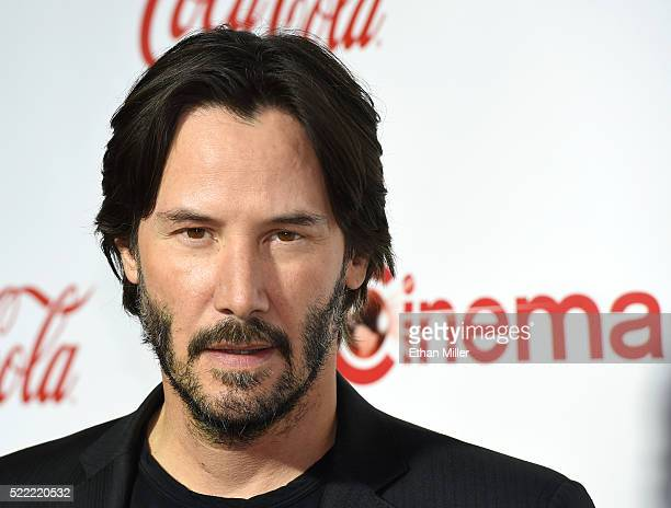 Actor Keanu Reeves recipient of the Vanguard Award attends the CinemaCon Big Screen Achievement Awards brought to you by the CocaCola Company at...