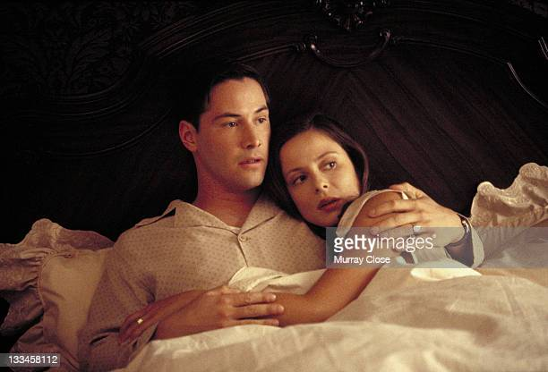 Actor Keanu Reeves stars with actress Aitana SanchezGijon in the film 'A Walk in the Clouds' 1995