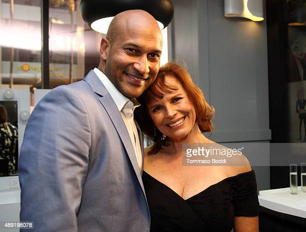 Actor Keegan Michael Key and wife Cynthia Blaise pose during Vanity Fair Social Club's In Conversation with panel series at WeWork on September 19...