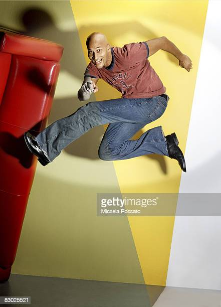 Actor Keegan Michael Key poses at a portrait session in Los Angeles CA