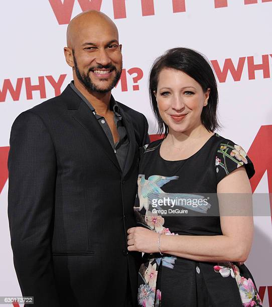 Actor KeeganMichael Key and Elisa Pugliese arrive at the premiere of 20th Century Fox's 'Why Him' at Regency Bruin Theater on December 17 2016 in...