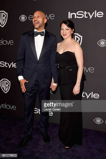 Actor KeeganMichael Key and Elisa Pugliese attend the 18th Annual PostGolden Globes Party hosted by Warner Bros Pictures and InStyle at The Beverly...