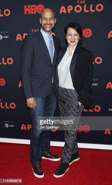 Actor KeeganMichael Key and film producer Elisa Pugliese attend the screening of The Apollo on the opening night of the 2019 Tribeca Film Festival at...