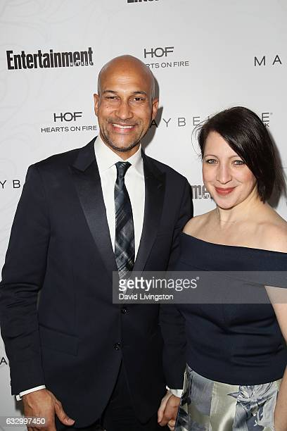 Actor KeeganMichael Key and film producer Elisa Pugliese arrive at the Entertainment Weekly celebration honoring nominees for The Screen Actors Guild...