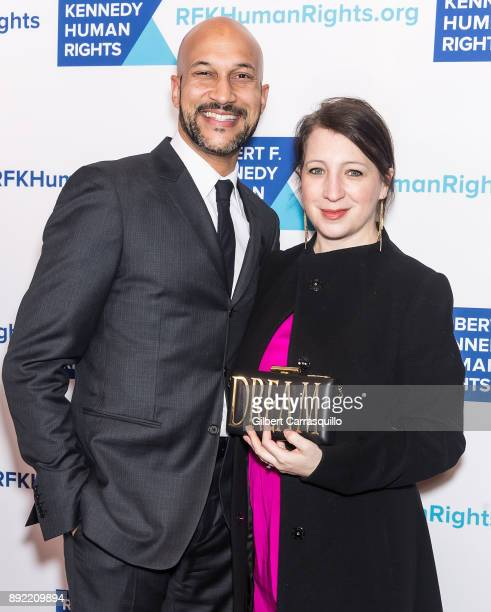 Actor KeeganMichael Key and film producer Elisa Pugliese attend Robert F Kennedy Human Rights Hosts Annual Ripple Of Hope Awards Dinner at New York...