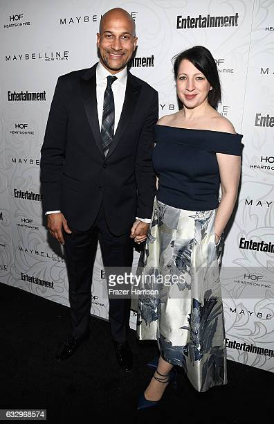 Actor KeeganMichael Key and film producer Elisa Pugliese attends the Entertainment Weekly Celebration of SAG Award Nominees sponsored by Maybelline...