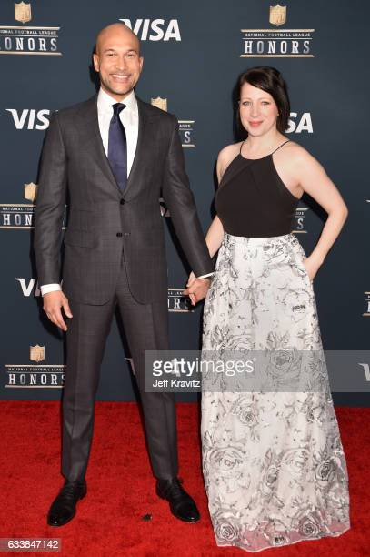 Actor KeeganMichael Key and producer Elisa Pugliese attend 6th Annual NFL Honors at Wortham Theater Center on February 4 2017 in Houston Texas