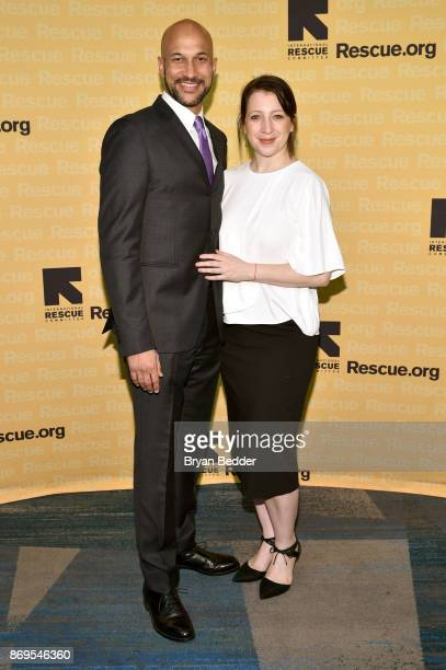Actor KeeganMichael Key and Producer Elisa Pugliese attend The 2017 Rescue Dinner hosted by IRC at New York Hilton Midtown on November 2 2017 in New...