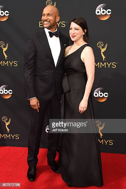 Actor KeeganMichael Key and producer Elisa Pugliese attend the 68th Annual Primetime Emmy Awards at Microsoft Theater on September 18 2016 in Los...