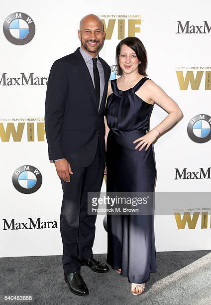 Actor KeeganMichael Key and producer Elisa Pugliese attend Women In Film 2016 Crystal Lucy Awards Presented by Max Mara and BMW at The Beverly Hilton...