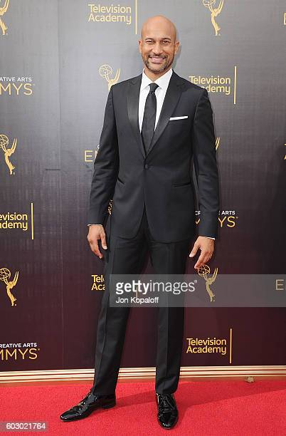 Actor KeeganMichael Key arrives at the 2016 Creative Arts Emmy Awards at Microsoft Theater on September 11 2016 in Los Angeles California