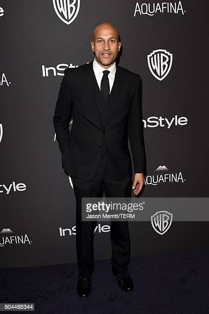 Actor KeeganMichael Key attends The 2016 InStyle And Warner Bros 73rd Annual Golden Globe Awards PostParty at The Beverly Hilton Hotel on January 10...