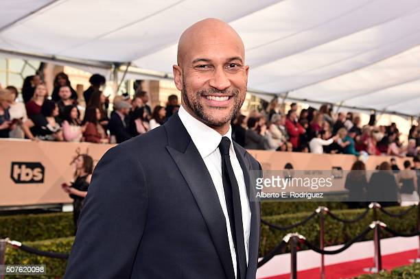 Actor KeeganMichael Key attends the 22nd Annual Screen Actors Guild Awards at The Shrine Auditorium on January 30 2016 in Los Angeles California
