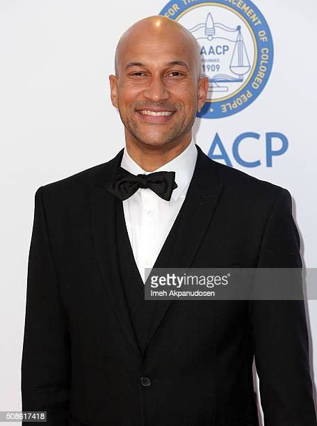 Actor KeeganMichael Key attends the 47th NAACP Image Awards presented by TV One at Pasadena Civic Auditorium on February 5 2016 in Pasadena California