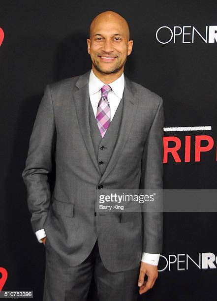 Actor KeeganMichael Key attends the Premiere of Open Road's 'Triple 9' at Regal Cinemas LA Live on February 16 2016 in Los Angeles California