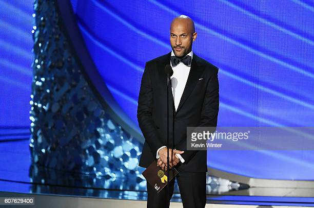 Actor Keegan-Michael Key speaks onstage during the 68th Annual Primetime Emmy Awards at Microsoft Theater on September 18, 2016 in Los Angeles,...