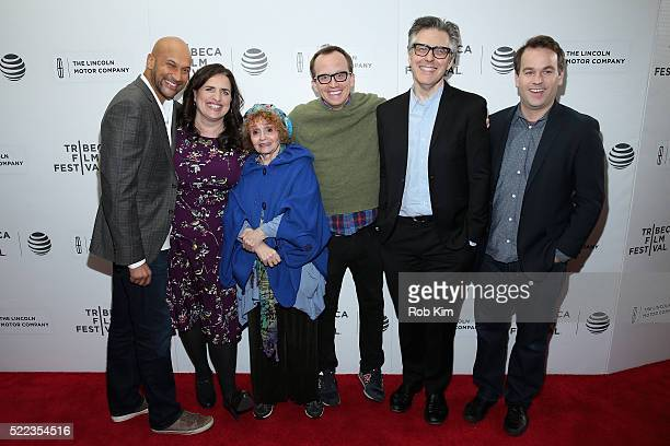 Actor KeeganMichael Key writer and cast member Tami Sagher actress Sondra James actor Chris Gethard producer Ira Glass and comedian and director Mike...