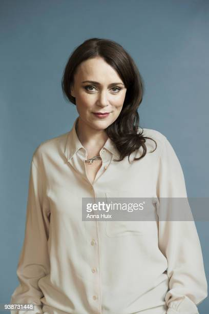 Actor Keeley Hawes is photographed for the Telegraph on March 2 2016 in London England