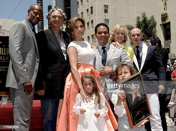 Actor Keenan Ivory Wayans director Gregory Nava actress/singer Jennifer Lopez manager Benny Medina actress Jane Fonda singer Pitbull Lopez's children...