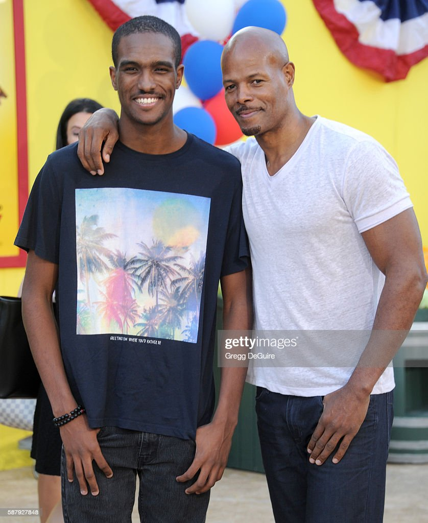 Actor Keenen Ivory Wayans and Keenen Wayans Jr. arrive at the premiere of Sony's 'Sausage Party' at Regency Village Theatre on August 9, 2016 in Westwood, California.